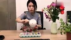 办公室小野自制水果刨冰,同事看了都想抢着吃