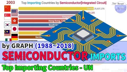 【数据可视化】世界各国半导体[集成电路]进口排名(1988~2018)