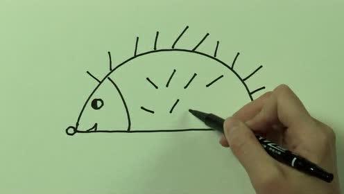 儿童学画画之简笔画免费学画画 刺猬 免费学画画系列之简笔画