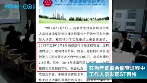 "ST百特又""亮""了,27跌停后17涨停 曾造假惊动外交部丨热公司"