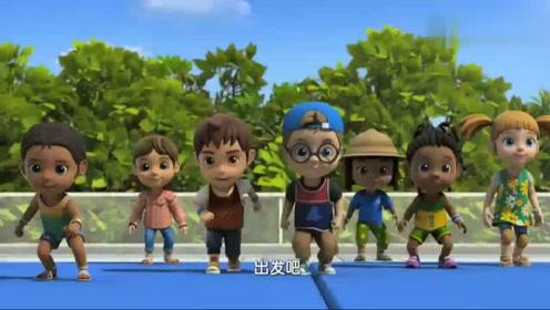 超级飞侠:小朋友们开始比赛了,真可爱