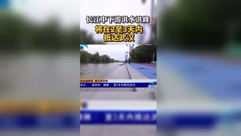 長江中下游洪水洪峰將在2至3天內抵達武漢