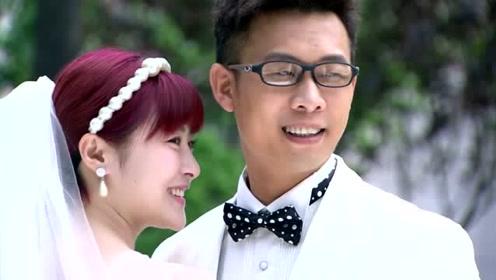 美女幻想跟自己喜欢的人拍婚纱照,结果抱错人