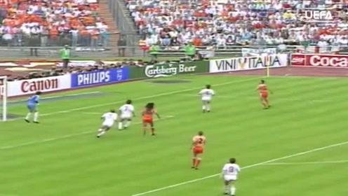 范巴斯滕零度角凌空抽射,为欧洲杯经典永恒进