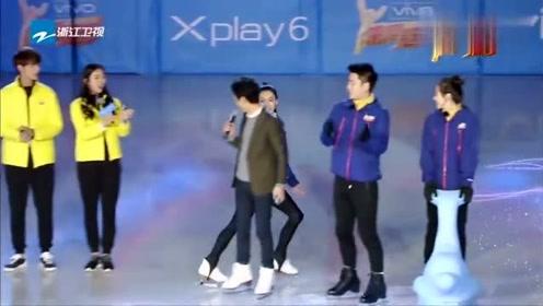 张柏芝滑冰出场,太惊艳太帅气了令全场人惊叹不已