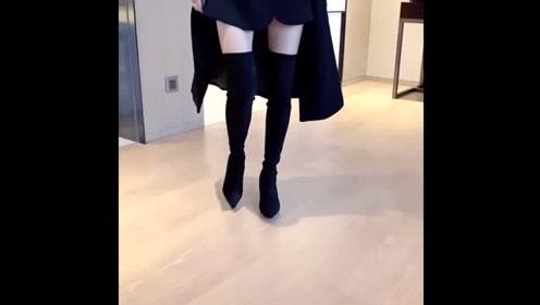 超显腿长尖头高跟瘦瘦高筒靴,打造高级感的女神气质!