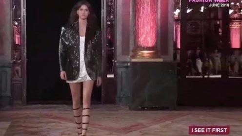 REDEMPTION巴黎高定周:罗马绑带鞋成功抢镜,美鞋因美腿而存在