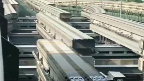这就是自动化轻轨无缝变轨,这就是中国制造,真为国人感到自豪