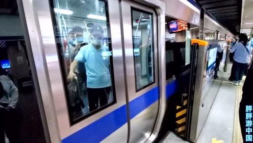 实拍中国第一条地铁:北京地铁二号线,1971年开通一毛钱就能坐!