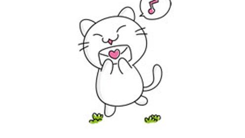 儿童绘画教学画一只可爱的小猫