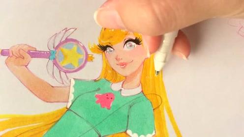 马克笔手绘动漫美少女,这教程很适合初学者学习!