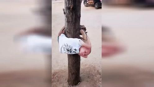 这小孩这么小就在少林寺这样练了,这长大后绝