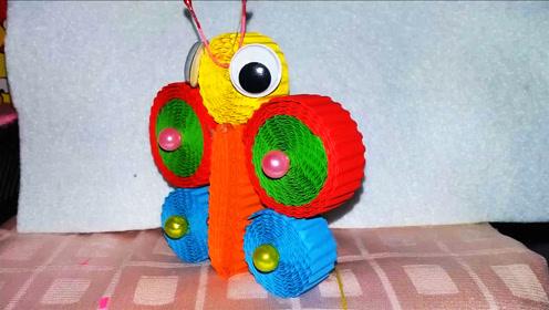 手工制作diy,用瓦楞纸制作蝴蝶,方法独特,非常有创意!