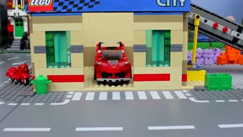 乐高定格动画:错误的汽车 搞笑动画