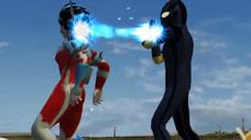 超好玩奥特曼格斗:银河奥特曼影子形态VS巴巴尔星人奥特形态