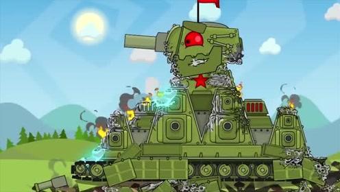 坦克世界搞笑动漫:利维坦变成蜘蛛侠,直接破kv44防御图片
