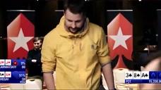 德州扑克惊天逆转华裔选手佘盖被对手河沙真的气人