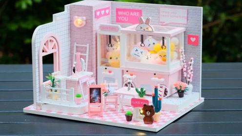 手工制作漂亮的迷你娃娃屋,还有可爱的夹娃娃
