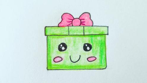 儿童简笔画:送你一个六一儿童节的礼物