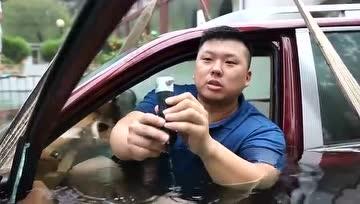 胖哥杨力 水下车内逃生 - 大轮毂汽车视频