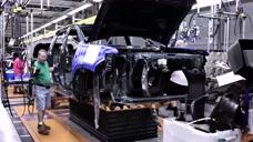 美国通用雪佛兰汽车生产线,不愧是汽车强国,场面太震撼了