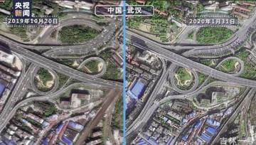 卫星上看疫情前后的世界,城市从车水马龙到人车稀少