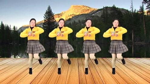 流行舞曲广场舞《姑娘我等你》节奏动感,舞步新颖,简单好看!