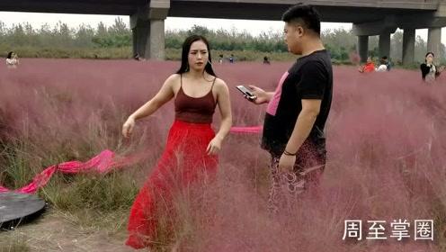 今天,周至这名美女跳的钢管舞走红网络!