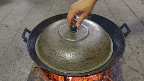 在农村做一个菜就够吃了,第一次见这种做法,看看晚饭吃了什么