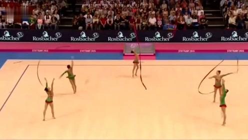 宫廷穿越仙女撒花,艺术体操世锦赛中国队的展示