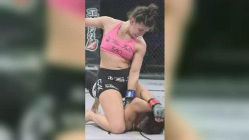 女子*格斗比赛,一招锁喉勒晕对手后,对手半天都起不来