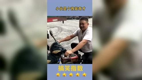 这个小伙是人才,拖拉机发动机改装成摩托车,走起来气质都不一样了!