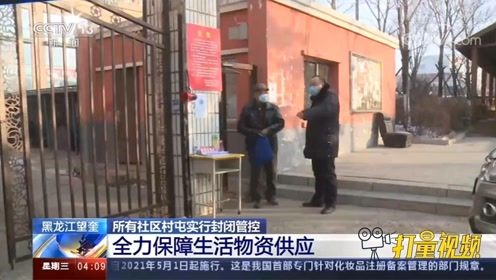 黑龙江望奎所有社区村屯实行封闭管控,全力保障生活物资供应