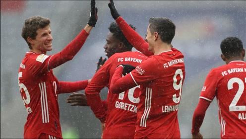 德甲-莱万建功穆勒传射,拜仁2-1弗莱堡