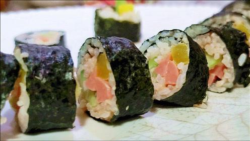 想吃寿司不用买,成本不过5块钱,好吃又解饿,一口一个吃不停!