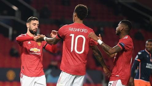 【战报】B费双响拉什福德破门 曼联主场4-1大胜伊斯坦布尔