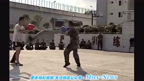 中国武警新兵 自由搏击实战