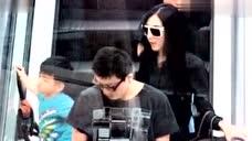 张柏芝带孩子返港与谢霆锋团聚 父子很开心