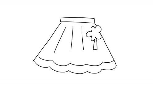 可爱漂亮的小裙子亲子绘画儿童简笔画视频 宝宝轻松学画画
