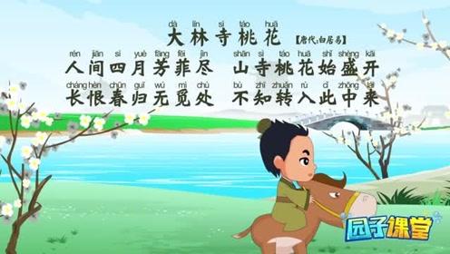 古诗词《大林寺桃花》早教动画教学,小朋友们来学习吧图片