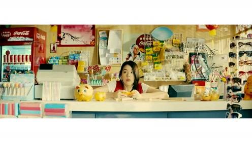 可口可乐创意广告:姑娘便利店偶遇帅哥,要帅