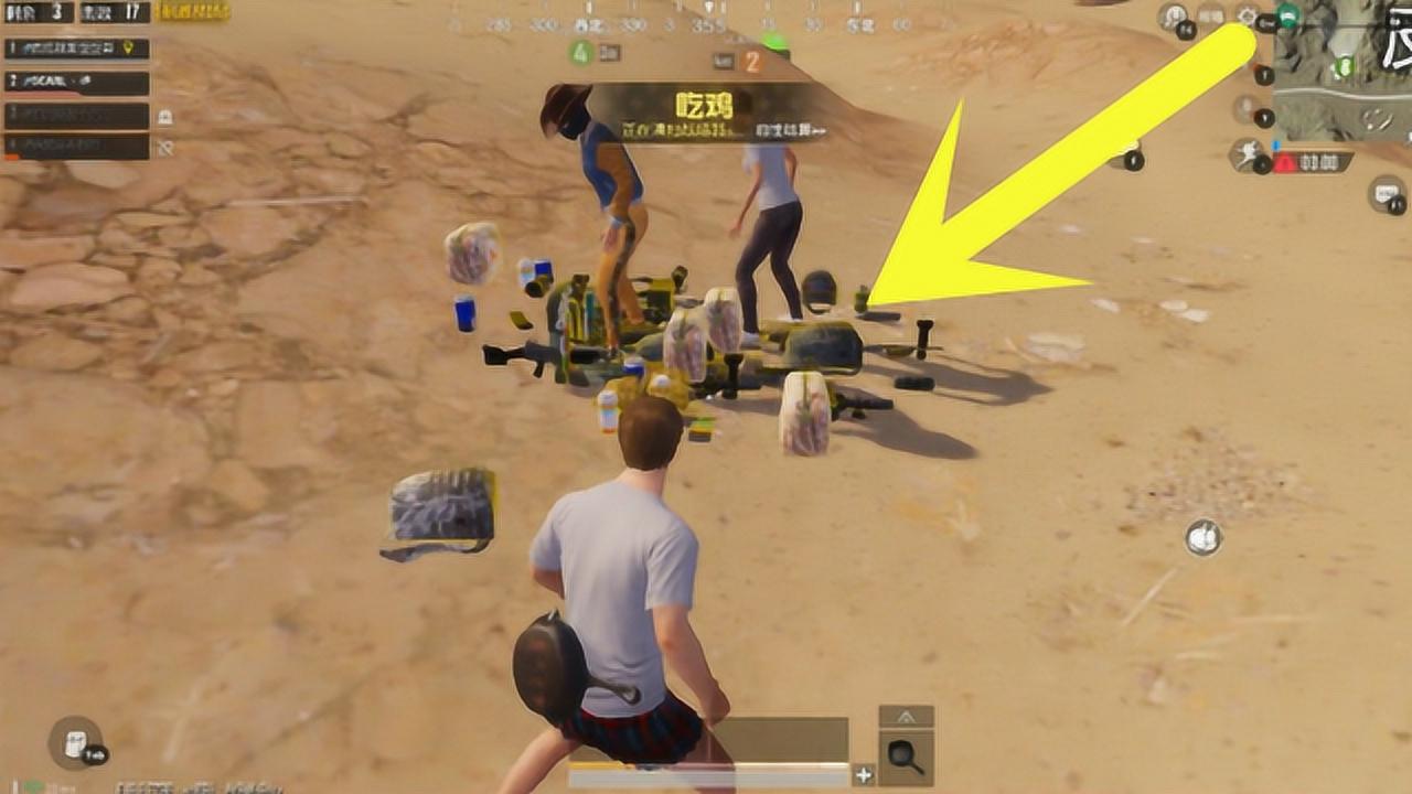 刺激战场:队友竟抢了所有空投+AWM!沙漠吉利服竟能抢巨肥装备?