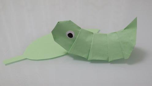 可爱超萌的毛毛虫折纸教程,看一遍就可以学会