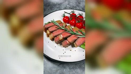 教你在家做出高级餐厅成千上百的哇塞牛排。美食 牛排