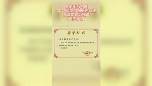 """鲁南制药荣膺""""2019年度中国医药行业最具影响力榜单""""两大奖项"""