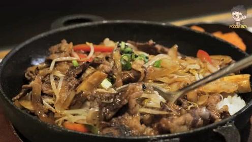 韩国美食:牛肉盖饭看着超有食欲好吃又营养!