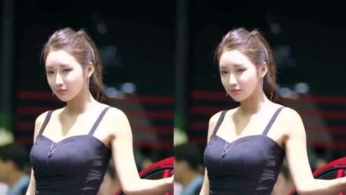 韩国美女车模,长相清纯笑容甜美