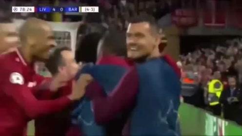 欧冠半决赛巴萨vs利物浦一年前的今天有个角球,发得特别快