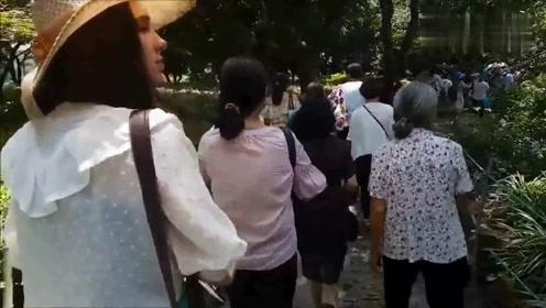 外国人在中国:外国美女到中国旅游,偶遇西湖合唱团大妈!