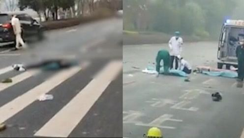 广西一轿车与电动车相撞,致1男1女当场身亡,视频曝光揪心一幕